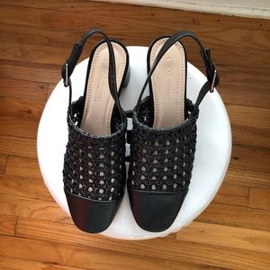 ASOS Outlawed Woven Heel Shoes Size Size 6